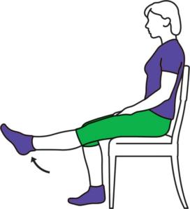 Straight-leg raise (sitting)