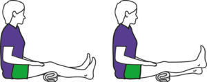 Quads exercise with roll