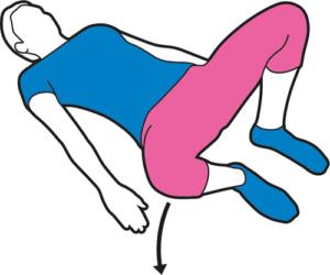 External hip rotation (lying)