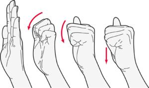 Finger tendon glide stretch