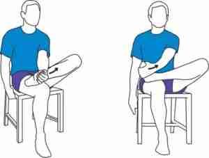 Sitting plantar fascia stretch